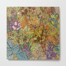 Floral Garden Metal Print