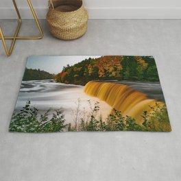 Tahquamenon Falls Luce County evening waterfall forest river beautiful waterfall Michigan USA Rug