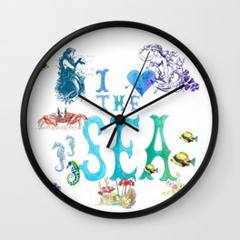 Mermaids Love the Sea Too Wall Clock