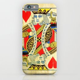 King Of Hearts Card Deck Old iPhone Case