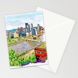 Pittsburgh Aerial View Stationery Cards