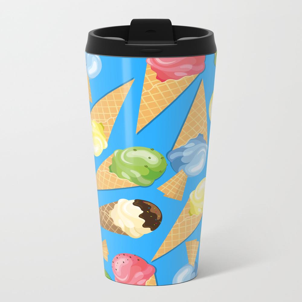 Ice Cream Set - 7 Metal Travel Mug by Swilderdesigns MTM7848060