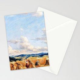 Harvest in the Czech-Moravian Highlands - Tavik Frantisek Simon Stationery Cards