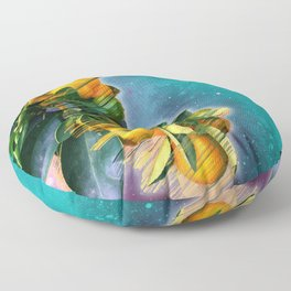 Small fruit tree in outer space Floor Pillow