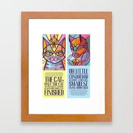 Oda al gato Framed Art Print