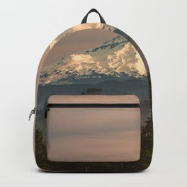 Mount Hood Vintage Sunset - Nature Landscape Photography Backpack