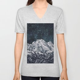 Constellations over the Mountain Unisex V-Neck