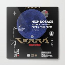Terra Incognita, Moon, Dark, Horizon, Japan Metal Print