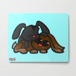 Cuddle Bunnies Metal Print