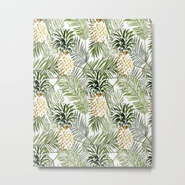 pineapple painted picture Metal Print