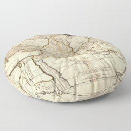 Middle East, Balkan Peninsula Map (1712) Floor Pillow