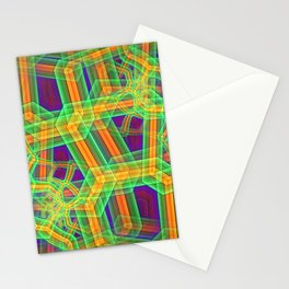 Phosphorescent abstract grid Stationery Cards