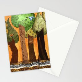 Flying in the forest Stationery Cards
