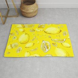 Lemon Lust on Yellow Rug