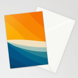 Abstract landscape art Stationery Cards
