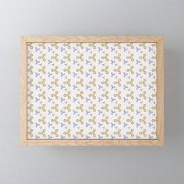 Fidget Spinner Seamless Pattern Framed Mini Art Print