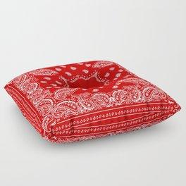 Bandana in Red & White Floor Pillow