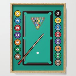 Billiards Table and Equipment Serving Tray