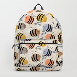 Sweet little baby bees watercolor illustration Backpack