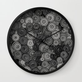 Heavy iron / 3D render of hundreds of heavy weight plates Wall Clock