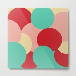 Bubble Art - Bubble Mint Metal Print