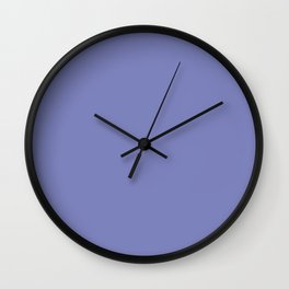 Deep Periwinkle Color Accent Wall Clock