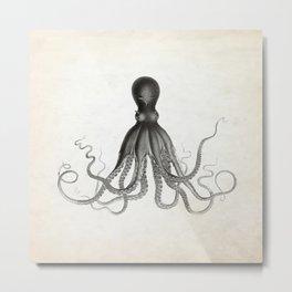 Vintage Octopus Illustration Metal Print