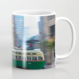 Green Cable Car Coffee Mug