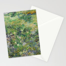 Long Grass with Butterflies by Vincent van Gogh Stationery Cards
