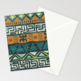 Grunge african pattern Stationery Cards