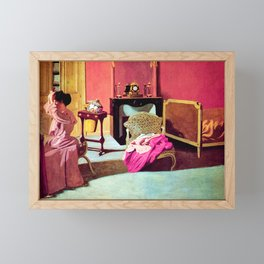 Felix Vallotton -  Woman being capped (new color editing) Framed Mini Art Print