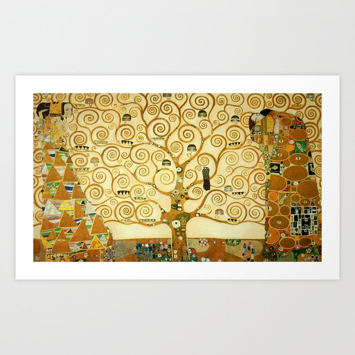 Gustav Klimt The Tree Of Life Art Print