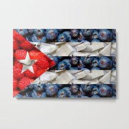 Healthy Cuba Flag Metal Print