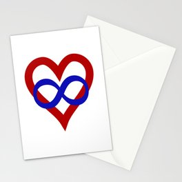 Polyamory Pride Heart Stationery Cards