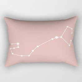 Scorpio Zodiac Constellation - Pink Rose Rectangular Pillow