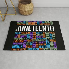 Juneteenth Words Rug