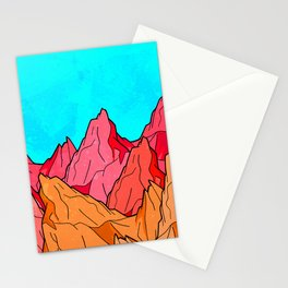 The Red and Orange Mounts Stationery Cards