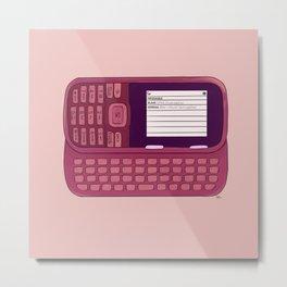 Rumor Has It - Pink Metal Print