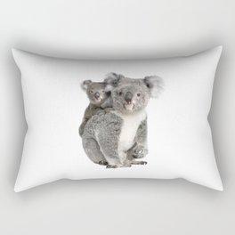 Koala bear and her baby Rectangular Pillow