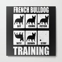 French Bulldog Frenchie Bully Training Metal Print