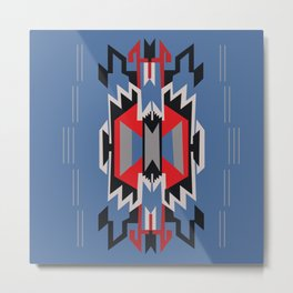 American Native Pattern No. 209 Metal Print