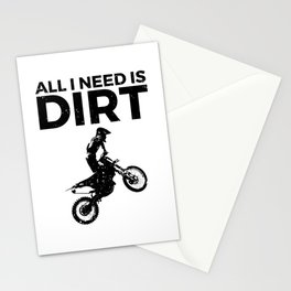 Motocross Dirt Bike Vintage Graphic Design Stationery Cards