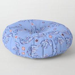 Moroccan Tile Bird Pattern Floor Pillow