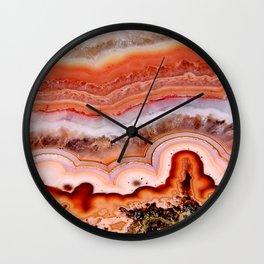 ORANGE AGATE Wall Clock