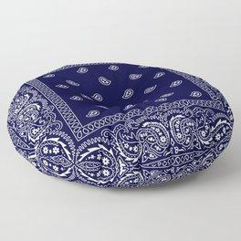 Bandana - Navy Blue - Southwestern - Paisley  Floor Pillow