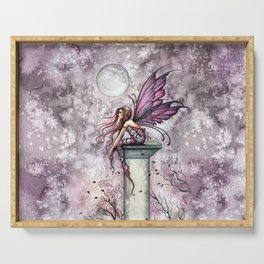 The Lookout Fairy Fantasy Art by Molly Harrison Serving Tray