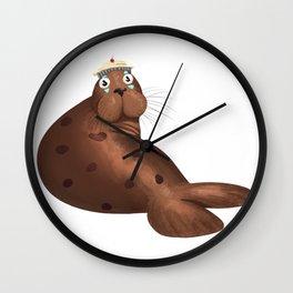Seal with clown makeup 2 Wall Clock