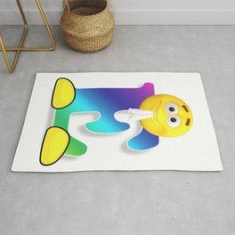 Letter E Alphabet Smiley Monogram Face Emoji Shirt for Men Women Kids Rug