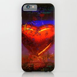 Cute red damaged heart iPhone Case