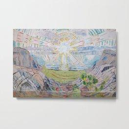 Edvard Munch - The Sun Metal Print